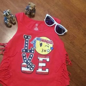 Starter graphic Love tank top size 6-6x
